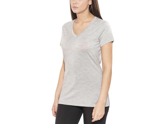Bergans Bloom T-shirt en laine Femme, grey melange
